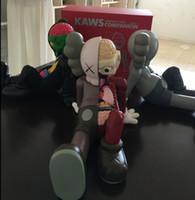 ingrosso giocattolo del ragazzo della ragazza di anime-Ragazzi Modello di moda Trendy Anatomical Plastics Bear KAWS Model Toys Luxury Hand-madeToy for Boys Girls Teens 2019 Explosion on Sell