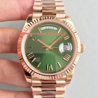 Wholesale 18k luxury watches swiss resale online - Super Edition Top Factory V8 mm Day Date President Roman Dial K Rose Gold Swiss CAL Movement Automatic Mens Watch Watches