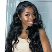Wholesale body wave brazilian monofilament wig resale online - Undetecable invisible lace body wave lace front human hair wig x6 pre plucked lace frontal wig
