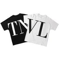 avrupa amerikalı kadın giyim toptan satış-Avrupa ve Amerika moda erkek tasarımcı t shirt Yaz lüks% 100 Pamuk Tees Erkekler ve kadınlar Moda tişört Erkek Üst Kalite giysi