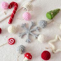 Wholesale kids decor rooms resale online - 1Pc Handmade Christmas Wool Felt Balls Kids Room Wall Decor Hanging Nursery Garland Xmas Ornament Party Festival Home Decor
