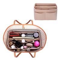 Wholesale insert for bag resale online - Felt Insert Bags Organizer Bag In Bag For Handbag Travel Inner Purse Portable Cosmetic Bags Never Full