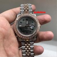 Wholesale bi fashion for sale - Group buy Bi Rose Gold Diamond Men s Watch Grey Dial Diamond Fashion Hot Watches Auto Mechanical Sports Calendar Watch