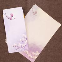 Wholesale stationery envelopes letter paper set for sale - Group buy 1pcs BZNVN Retro stationery envelope set point ink China Style A4 rich paper love letter romantic couple