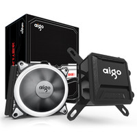Wholesale cpu case cooling for sale - Group buy Aigo Liquid CPU Cooler All In One Water Cooling mm PWM Fan LED Light desktop computer case radiator LGA x AM2 AM3 AM4