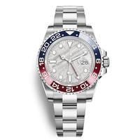 edelstahl blau groihandel-New 2019 Modell Mens-Armbanduhr des Edelstahl-316L, Blau, Rot Pepsi-Uhr Automatik GMT Bewegung limitiert Uhr Orologio di Lusso Master-Geschenk