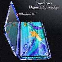 huawei чехол для чехла оптовых-360 полный магнит двухсторонний стекло металлический бампер телефон чехол для Huawei Honor P30 Pro Mate 20 X P20 NOVA 5 примечание 10 9X 20 8X крышка