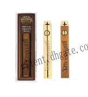 vv ladegerät großhandel-Messingknöchel Vape Batterie Stift 650mAh Gold 900mAh Holz vorheizen VV variable Spannung Vape Stift mit USB-Ladegerät