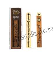 ingrosso caricatore del usb della penna del vape-Penna a sfera Vape 650mAh oro 900mAh Penna a preriscaldamento VV penna a tensione variabile in legno con caricatore USB