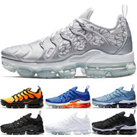Wholesale soft work shoes resale online - TN Plus Sneaker Men Women Running Shoes Sunset Triple Black White Silver Patterns Game Royal Work Blue Hyper Violet Trainer Sport Sneaker