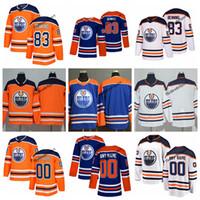 оранжевый 83 трикотаж оптовых-2019 настроить Edmonton Oilers Мэтт Беннинг хоккей трикотажные изделия дешевые мужские новый королевский синий оранжевый 83 Мэтт Беннинг сшитые трикотажные рубашки S-XXXL