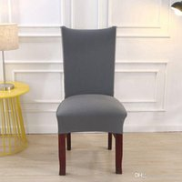 Wholesale chair cover factory resale online - Factory Spandex Stretch Solid Dining Chair Coves Elastic Seat Painting Slipcovers Restaurant Banquet Hotel Chair Covers