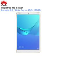 huawei tablets pc venda por atacado-HUAWEI MediaPad M5 8.4 '' Android 8.0 Tablet PC HiSilicon Kirin 960 Octa Núcleo 4 GB de RAM 64 GB / 128 GB eMMC ROM Bluetooth PC