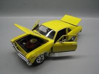 ingrosso mini collezione di giocattoli-Firma 1/32 Scala Modello di auto Giocattoli Usa Chevrolet Nova Ss Pressofuso In metallo Modello di auto giocattolo Per Collezione / regalo / decorazione J190525