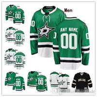 minnesota north stars jerseys achat en gros de-Personnalisé Dallas Stars Green White 100th 25th Jersey N'importe quel nom de numéro hommes femmes jeune enfant Noir Minnesota Nord Vintage Klingberg Benn Bishop