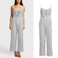 ingrosso donna clubwear uomo-Pagliaccetti Womens Jumpsuit Womens Clubwear Strappy Striped Playsuit Bandage Bodysuit Party Jumpsuit Summer Pagliaccetti Daily Playsuit