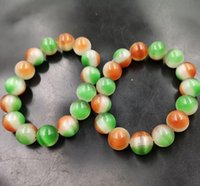 Wholesale 14mm copper beads resale online - New mm ice three color opal bead bracelet bracelet