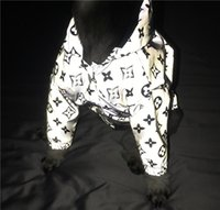 Wholesale fiber cats for sale – best Pet Reflective Raincoat Fashion Geometric Pattern Coat Pet Apparel Popular Schnauzer And Bulldog Apparel Cat And Dog Jumper Pet Clothes