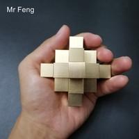 kong ming puzzle al por mayor-Chinese Kong Ming Lock 3D Puzzle Collection Juego de modelo de rompecabezas de metal de latón puro Juego de pasatiempo Rompecabezas (Número de modelo H449)