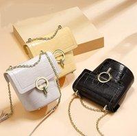 sacos de balde de couro venda por atacado-Padrão de alta qualidade Crocodile Handbag Mulheres Shoulder Designer Luxury Leather Bag Corpo Cruz Cadeia Bucket Bag