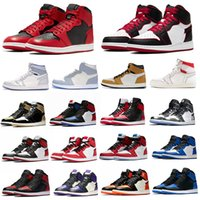 Wholesale fly mesh fabric for sale - Group buy Basketball Shoes s High OG Jump Fly obisidian UNC s Black Game Royal Bred Toe Womens Mens Size With Box