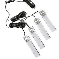 ingrosso luci del piede dell'automobile-Car Styling Interior Dash Floor Foot Lampada da 4-in-1 con illuminazione a LED