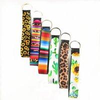 neopren-handy groihandel-11 Styles Neopren-Schlüsselanhänger Für Phone Straps Lanyard Sonnenblume Leopard-Muster mit Handgelenk-Bügel-Seil für Handy-Handtasche Dekoration M140Y