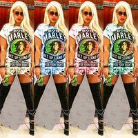 Wholesale cut off shirts resale online - Women s Bob Marley Dress Irregular Cut off Hole Long T shirt Summer Short Sleeve Dovetail Bodycon Skirt Party Club Wear Fashion C5901