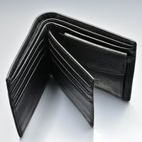 Wholesale brand design wallet resale online - Luxury Classic Black Top Genuine Leather wallet Designed for Man Card Holder MB Brand Coin Pocket Photo Holder Short wallets with Gift box