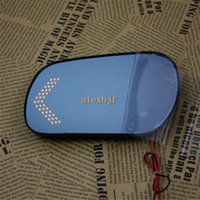 Wholesale anti glare lens resale online - Car Rearview Mirror Lens for Mazda M3 M6 Large Field Of Vision Anti glare Blue Mirror Turn Signals Lights Heat Demisting