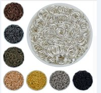 Wholesale findings for jewelry resale online - 1000pcs mm alloy color Jump Rings Single Loops Open Jump Rings Split Rings For Jewelry Finding DIY