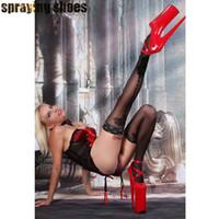 modelle sexy stilette großhandel-Extreme 20 CM Frauen High Heels Schuhe Sexy Modelle Stripperinnen Party Show Club Pumps Hohe Plattform Stilettos SM Cosplay Heels Schuhe