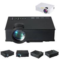 mini vga medya oynatıcı toptan satış-Projektör Mini LED LCD Projektörler Unic UC40 + 3D Proyector Full HD 1080 P Media Player Ev Sineması HDMI VGA Destekler USB Xbox Oyun TV Beamer