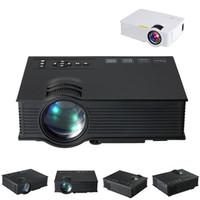 vga media player venda por atacado-Projetor Mini LED LCD Projetores Unic UC40 + 3D Projetor Full HD 1080 P Media Player Home Theater Suporta HDMI VGA USB Xbox Jogo TV Beamer