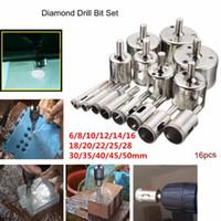 Wholesale diamond glass drill bits for sale - Group buy 16pcs mm Diamond Drill Bit Set Hole Glass Marble Granite Saw Cutter Tool