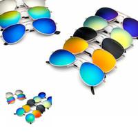 erkek kurbağaları toptan satış-Çocuklar Güneş Gözlüğü Erkek Kız Klasik Tasarım kurbağa yuvarlak Güneş Gözlüğü Çocuklar Plaj Malzemeleri UV Koruyucu Gözlük KKA7136