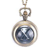 ingrosso porcellana di ottone catena-Collana Cina tradizionale Tai Chi Logo Design Orologio da taschino in ottone con collana a catena Lucky for Men Women