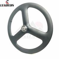китайские углеродные велосипеды оптовых-LEADXUS 700C Углеродные колеса Велосипед Carbon 3-спицевое колесо Китайское карбоновое три-спицевое колесо Дорожная и дорожная и фиксированная передача