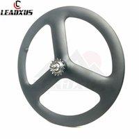 chinesische carbonfahrräder großhandel-LEADXUS 700C Carbonfelgen Fahrrad Carbon 3 Speichen Felge Chinese Carbon Tri Speichen Felge Road And Track And Fixed Gear