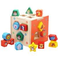 oyuncakları bir araya getirmek toptan satış-Ahşap Montaj Yapı Taşları Akıllı Kutu Oyuncak