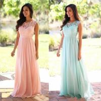 bir elbise deseni toptan satış-Zarif Mercan Nane Gelinlik Modelleri Dantel Aplike Düğün Konuk Elbise Sheer Geri Fermuar Sweep Tren Şifon Ucuz Örgün Önlük
