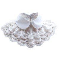 mujer hermosa blusas blancas al por mayor-Hermosa capa blanca nueva blusa falso cuello chal protector solar mujeres
