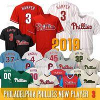 Wholesale Philadelphia Phillies Bryce Harper Jersey Aaron Nola Darren Daulton Rhys Hoskins Steve Carlton Men Women Youth Size S XL