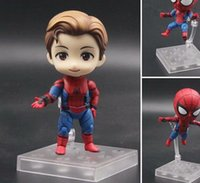 Wholesale avengers q resale online - NEW Marvel Homecoming Cute Spider Man cm Kawaii Action Figure Q Tom Holland Avengers Spiderman Toys Doll KO s Nendoroid