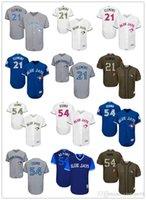 jay azul venda por atacado-Juventude das mulheres dos homens Toronto # 54 Roberto Osuna