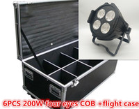 Wholesale case cooler master for sale - Group buy Flight Case COB W LED Par Light Two color x50w Light Effect Light DMX512 DMX Cool White Warm White disco dj Stage Lighting Effect