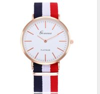 модные часы любовники оптовых-Fashionable nylon with quartz watch student lovers contracted ultra-thin watch custom men's women's watches wholesale