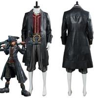 homens do traje do coração venda por atacado-Kindom Corações 3 Pirata Sora Traje Cosplay Adulto Homens Halloween Carnaval Traje Feito Sob Encomenda