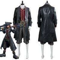 costume homme coeur achat en gros de-Kindom Hearts 3 Pirate Sora Cosplay Costume Adulte Hommes Halloween Costume De Carnaval Sur Mesure