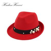 Wholesale tall woman silk resale online - 2018 New Winter Fedora Hats for Men or Women Wool Felt Jazz Hat Vintage Panama Cap MNBJB012 D19011102